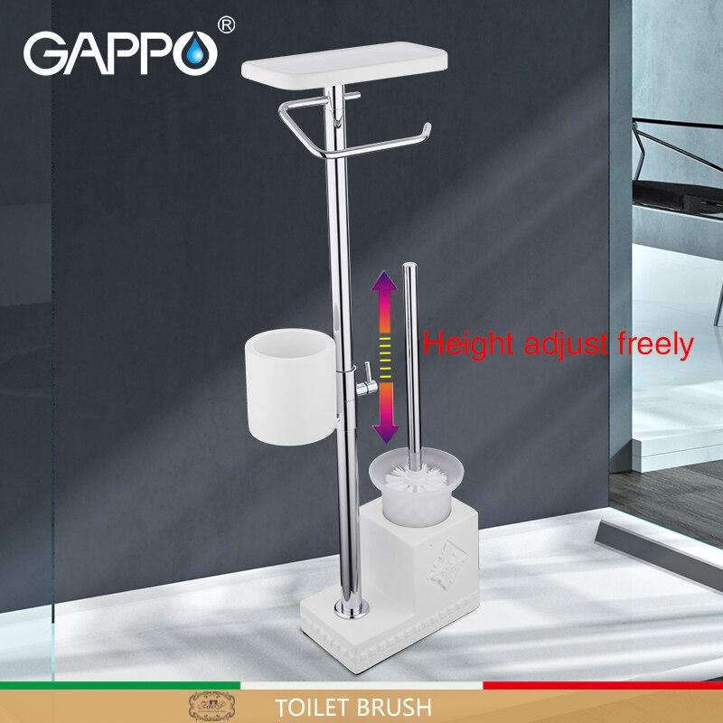 GAPPO toilet brush white bathroom toilet holders free standing accessories brushed bathroom Toilet Brush holder